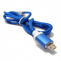 USB data kabal za Android micro/iPhone 2-sided - plava