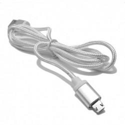 USB data kabal za Android micro/iPhone 2-sided - srebrna