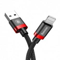 USB data kabal za iPhone Baseus Golden belt (1m) - crno-crvena