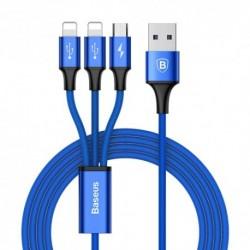 USB data kabal za Android micro/iPhone Baseus Rapid (1,2m) - teget