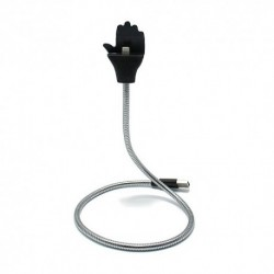 USB data kabal za iPhone Flexible Stand - srebrna