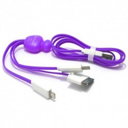 USB data kabal za Android micro/iPhone/iPhone 4 Perfume - ljubičasta