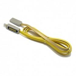 USB data kabal za Android micro/iPhone Remax Armor RC-067t (1m) - žuta