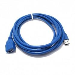 USB data kabal za USB na USB 3.0 produžni (3m) - plava