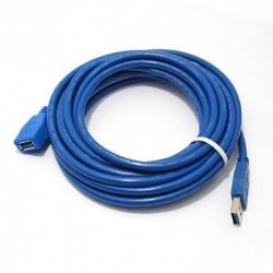 USB data kabal za USB na USB 3.0 produžni (5m) - plava