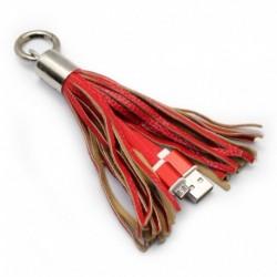 USB data kabal za Android micro sa priveskom - crvena