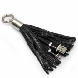 USB data kabal za iPhone sa priveskom - crna