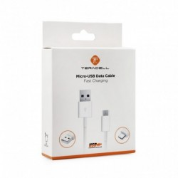USB data kabal za Android micro Teracell Plus (1,2m) - bela