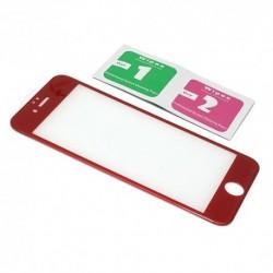 Zaštitno staklo za iPhone 6/6s (zakrivljeno 3D) - crvena