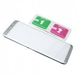 Zaštitno staklo za Samsung Galaxy S8 (zakrivljeno 3D) - srebrna