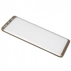 Zaštitno staklo za Samsung Galaxy S8 (zakrivljeno 3D) - zlatna