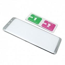 Zaštitno staklo za Samsung Galaxy S8 Plus (zakrivljeno 3D) - srebrna