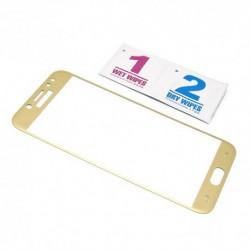 Zaštitno staklo za Samsung Galaxy J3 (2017) (zakrivljeno 3D) - zlatna