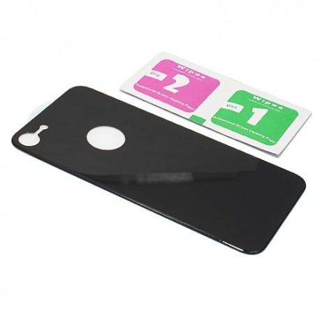 Zaštitno staklo za iPhone 7/8 (zakrivljeno 4D) zadnje - crna
