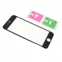 Zaštitno staklo za iPhone 7/8 Color rubber frame - crna