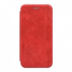 Futrola za iPhone X/XS preklop bez magneta bez prozora Teracell Leather - crvena