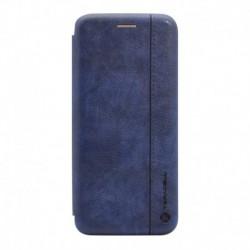 Futrola za iPhone X/XS preklop bez magneta bez prozora Teracell Leather - plava