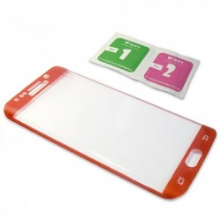 Zaštitno staklo za Samsung Galaxy S6 Edge (zakrivljeno 3D) - crvena