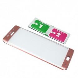 Zaštitno staklo za Samsung Galaxy S6 Edge Plus (zakrivljeno 3D) - pink