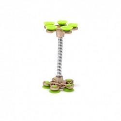 Auto držač (stalak) sa vakumom SunFlower - zeleno-zlatna