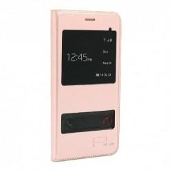 Futrola za Huawei P10 lite preklop bez magneta sa prozorom Smart view - roza