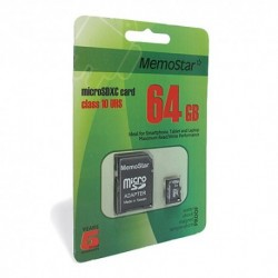 Memorijska kartica (64Gb) C10 MicroSD i adapter - MemoStar