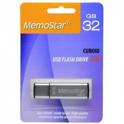 USB (flash) memorija (32Gb) 3.0 MemoStar Cuboid - srebrna