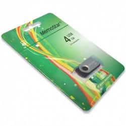 USB (flash) memorija (4Gb) MemoStar Rota - srebrna