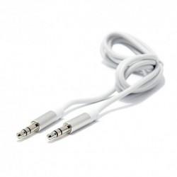 Audio (Aux) kabal (3,5mm) 1m Ldnio LS-Y02 - belo-srebrna