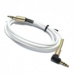 Audio (Aux) kabal (3,5mm) 1m Spring thin - bela