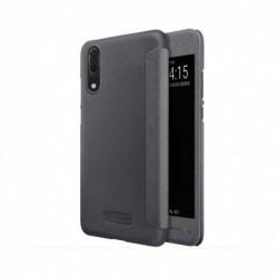 Futrola za Huawei P20 preklop bez magneta sa prozorom Nillkin sparkle - crna
