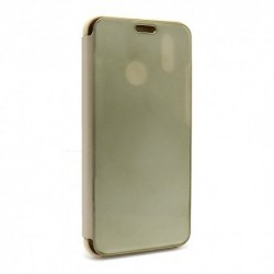 Futrola za Huawei P20 lite preklop bez magneta bez prozora Clear view - zlatna