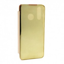 Futrola za Huawei P30 lite/Nova 4e preklop bez magneta bez prozora Clear view - zlatna