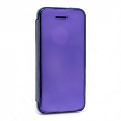 Futrola za iPhone 5/5s/SE preklop bez magneta bez prozora Clear view - ljubičasta