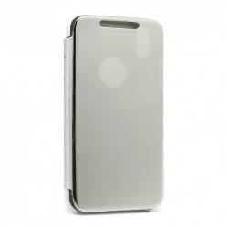 Futrola za iPhone XR preklop bez magneta bez prozora Clear view - srebrna