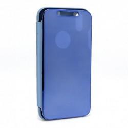 Futrola za iPhone XR preklop bez magneta bez prozora Clear view - teget