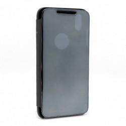 Futrola za iPhone XS Max preklop bez magneta bez prozora Clear view - crna