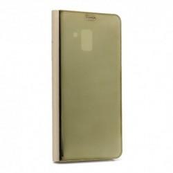 Futrola za Samsung Galaxy A8 Plus (2018) preklop bez magneta bez prozora Clear view - zlatna