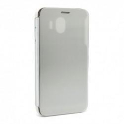 Futrola za Samsung Galaxy J4 preklop bez magneta bez prozora Clear view - srebrna