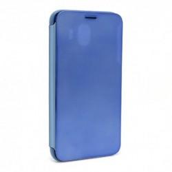 Futrola za Samsung Galaxy J4 preklop bez magneta bez prozora Clear view - teget