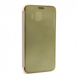 Futrola za Samsung Galaxy J4 preklop bez magneta bez prozora Clear view - zlatna