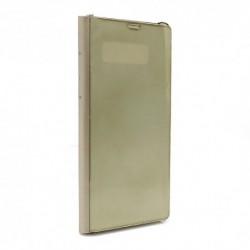 Futrola za Samsung Galaxy Note 8 preklop bez magneta bez prozora Clear view - zlatna