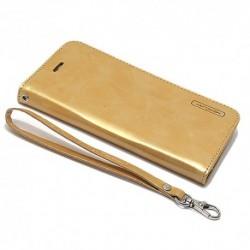 Futrola za Samsung Galaxy Note 7 preklop bez magneta bez prozora Mercury model 1 - zlatna