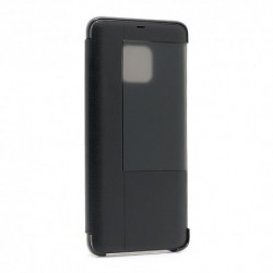 Futrola za Huawei Mate 20 Pro preklop bez magneta sa prozorom Smart view - crna