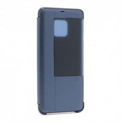 Futrola za Huawei Mate 20 Pro preklop bez magneta sa prozorom Smart view - teget