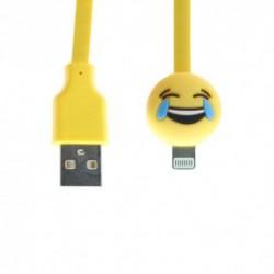 USB data kabal za iPhone lightning Emoji osmeh (1m) - Žuta