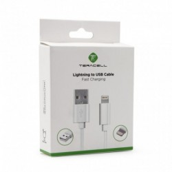 USB data kabal za iPhone lightning Teracell+ (1,2m) - bela