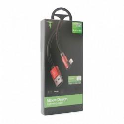 USB data kabal za iPhone lightning T-Phox T-L804 (1,2m) - crvena