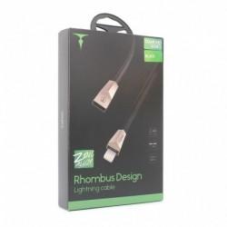 USB data kabal za iPhone lightning T-Phox T-L808 (1,2m) - crna