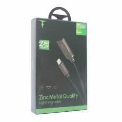 USB data kabal za iPhone lightning T-Phox T-L809 (1m) - crna